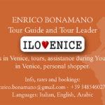 Tour Guide tour leader Venice Enrico Bonamano Goldoni walks tours assistance personal shopper